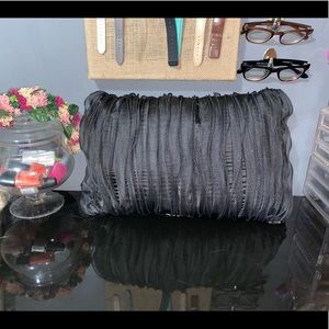 Black Ruffle Lumbar Pillow